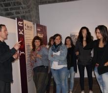 Visite guidée de l'exposition SOKA auprès de lycéens (2015 - ICB)