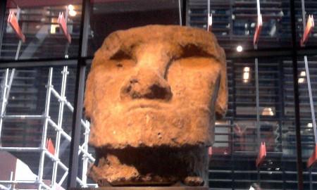 Tête de Moai embarquée sur l'île de Pâques en 1872 par une expédition française- Musée du Quai Branly